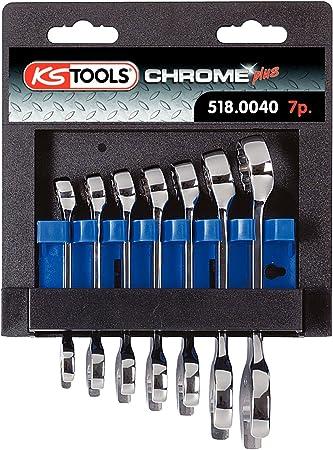 7-tlg. kurz KS Tools 518.0040 CHROMEplus Ringmaulschl/üssel-Satz