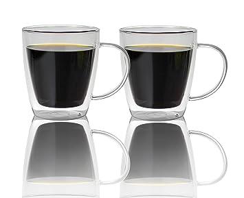 0b52b3d94e1fb0 Tasses  agrave  caf eacute  en verre  agrave  double paroi 500 nbsp ml, Lot