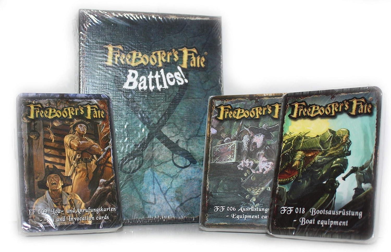 Ausr/üstungskarten 4 x Karten-Set Bootsausr/üstung Freebooter/´s Fate: Battles! Tod und Anrufungskarten