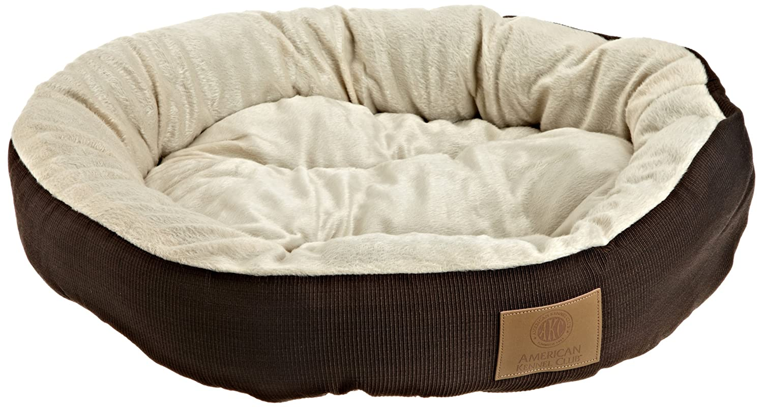 amazoncom akc casablanca round solid pet bed dog bed pet supplies - Dog Beds For Large Dogs