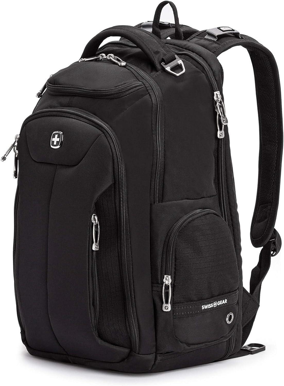 SWISSGEAR Large ScanSmart Laptop Backpack TSA-Friendly Carry-on Travel, Work, School Men s and Women s – Black