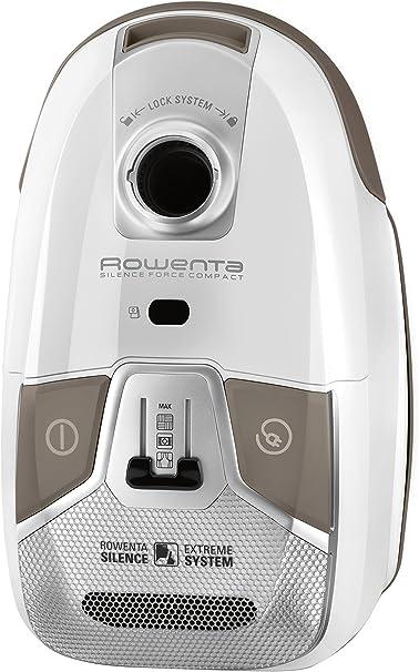 Rowenta Silence Force Compact RO6327EA - Aspirador con bolsa, bolsa triple filtración 3.5 L con cepillo parquet con dos posiciones y ranuras, tubo telescópico, bajo nivel de ruido 68 dB: Amazon.es: Hogar