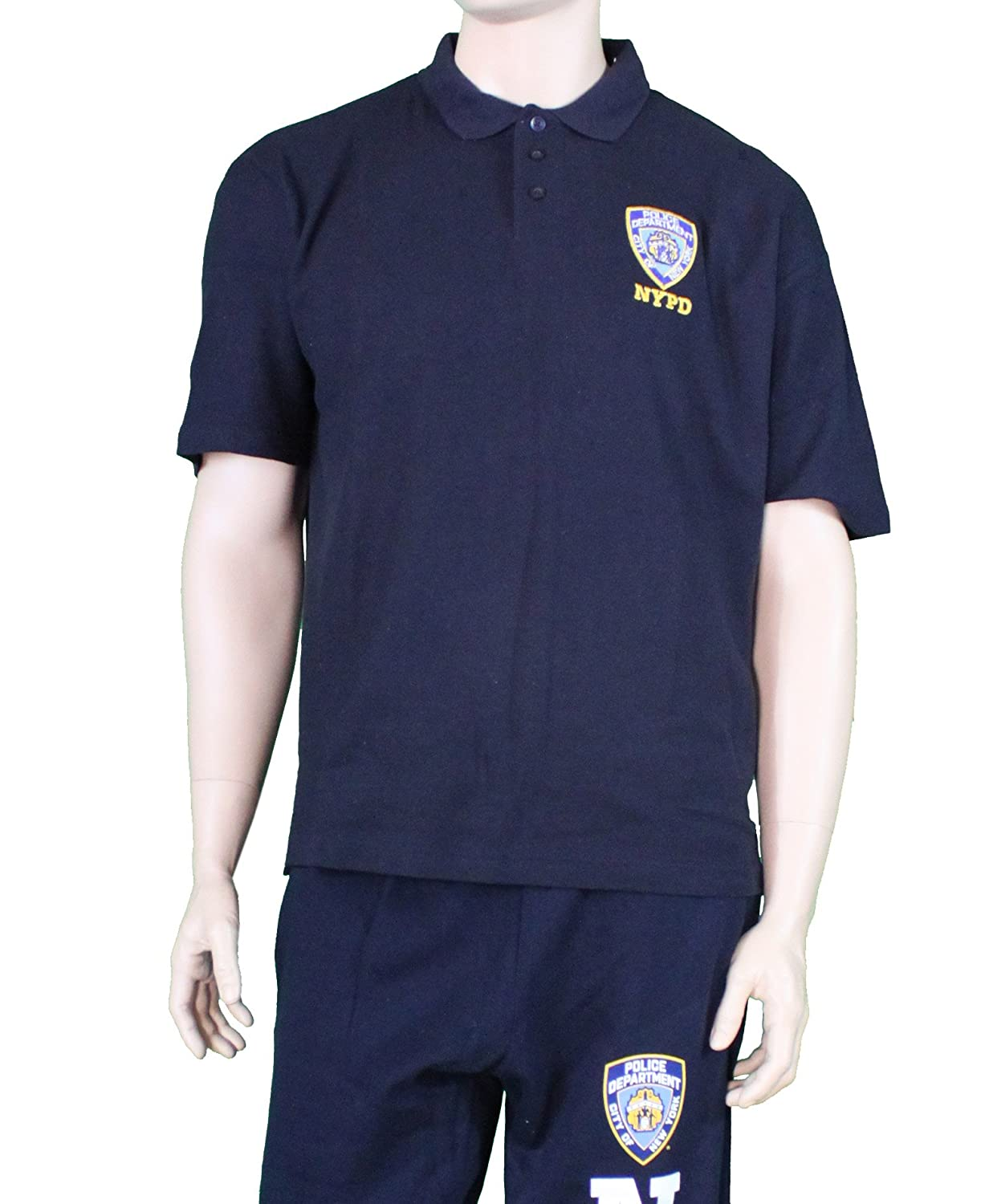 NYPD Official Embroidered Logo Polo Shirt Navy