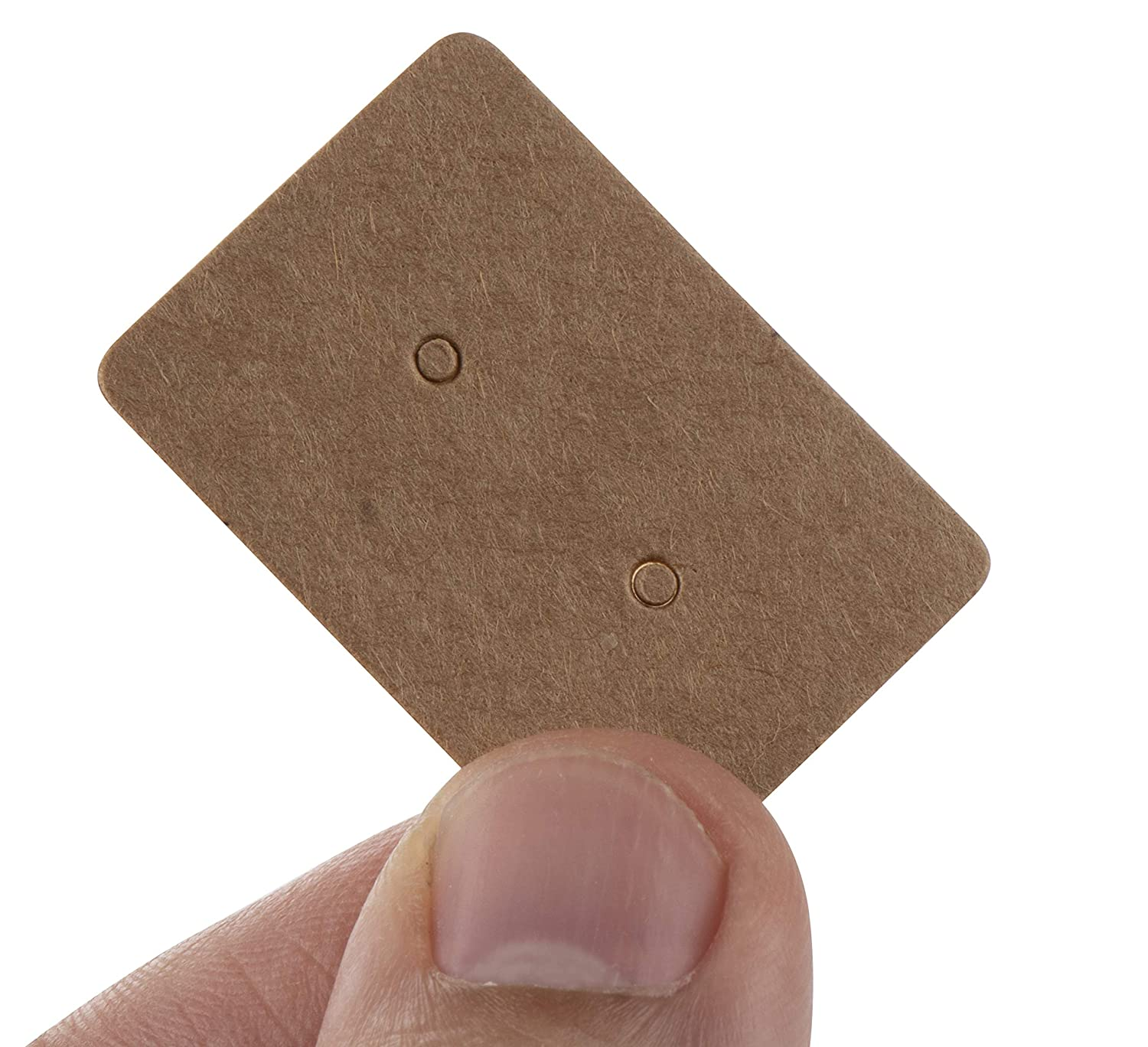 Kraft Color 3.5 x 2 Inches Earring Display Cards for Ear Studs Earring Cards Earrings 200-Pack Earring Card Holder