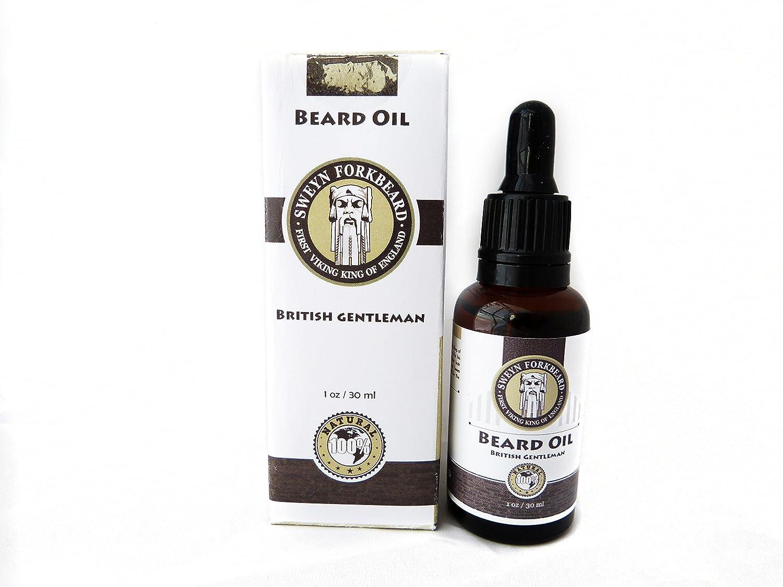 Aceite para Barba British Gentleman 100% Natural y Organico Hecho a Mano en Londres Suaviza la Barba y Elimina el Picor Sweyn Forkbeard