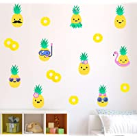 Pineapple Wall Décor - Cute Colorful Decals for Kids, Removable Stickers for Bedroom Kitchen Bathroom Playroom Nursery…