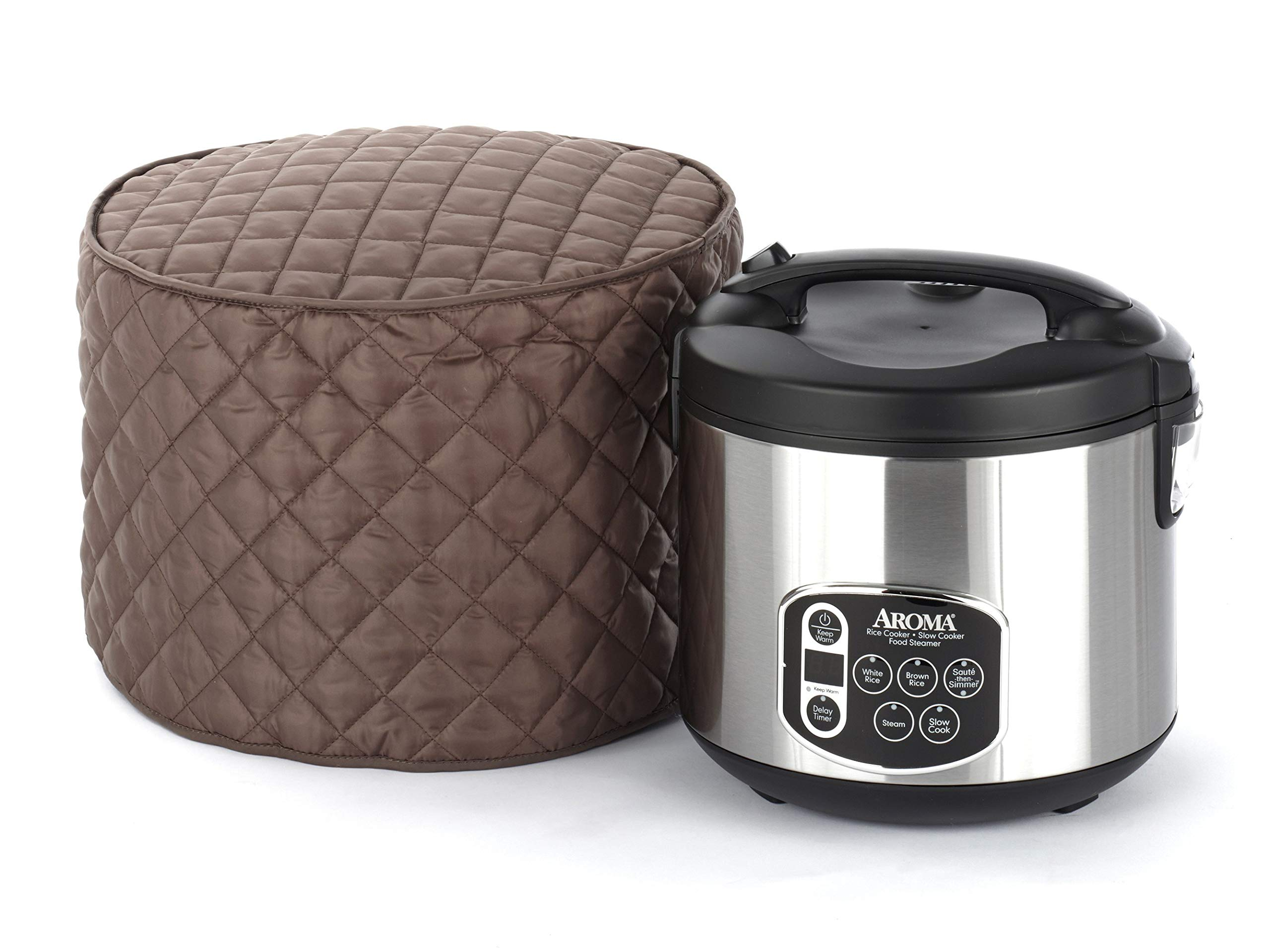 CoverMates – Rice Cooker Cover – 11D x 12H – Diamond Collection – 2 YR Warranty – Year Around Protection - Bronze by CoverMates