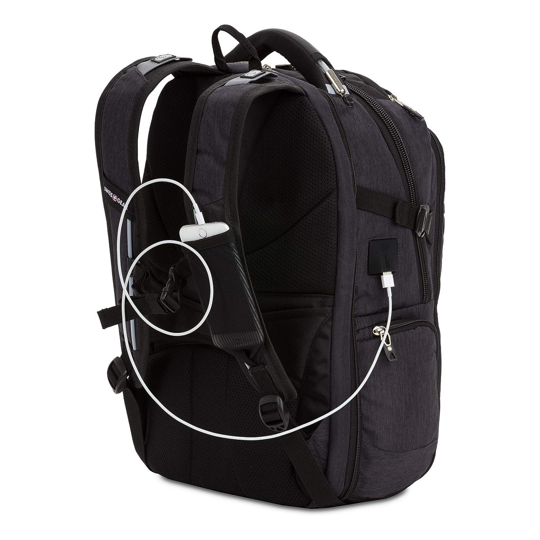 "Amazon.com: SwissGear 5358 USB ScanSmart Laptop Backpack. Abrasion-Resistant & Travel-Friendly Laptop Backpack (18"", Gray Heather).: Quiverr"