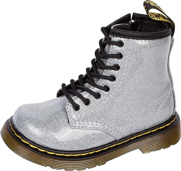 Basso Artù Pomodoro  DR MARTENS Bambina Anfibio 1460 Glitter T Argento Mod. K1460GLSL Silver  Size: 5 UK Child: Amazon.co.uk: Shoes & Bags