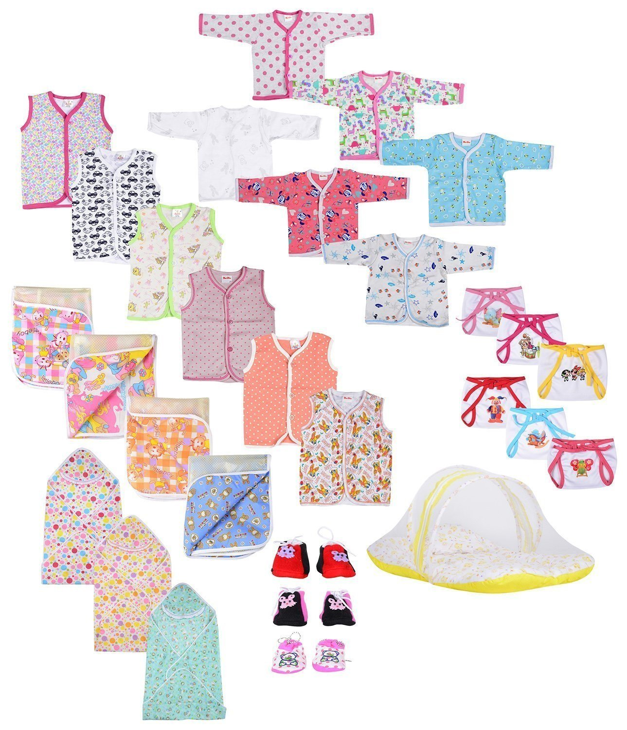 Baby Fly New Born Baby Gift Set Combo Pack of 7 Items for