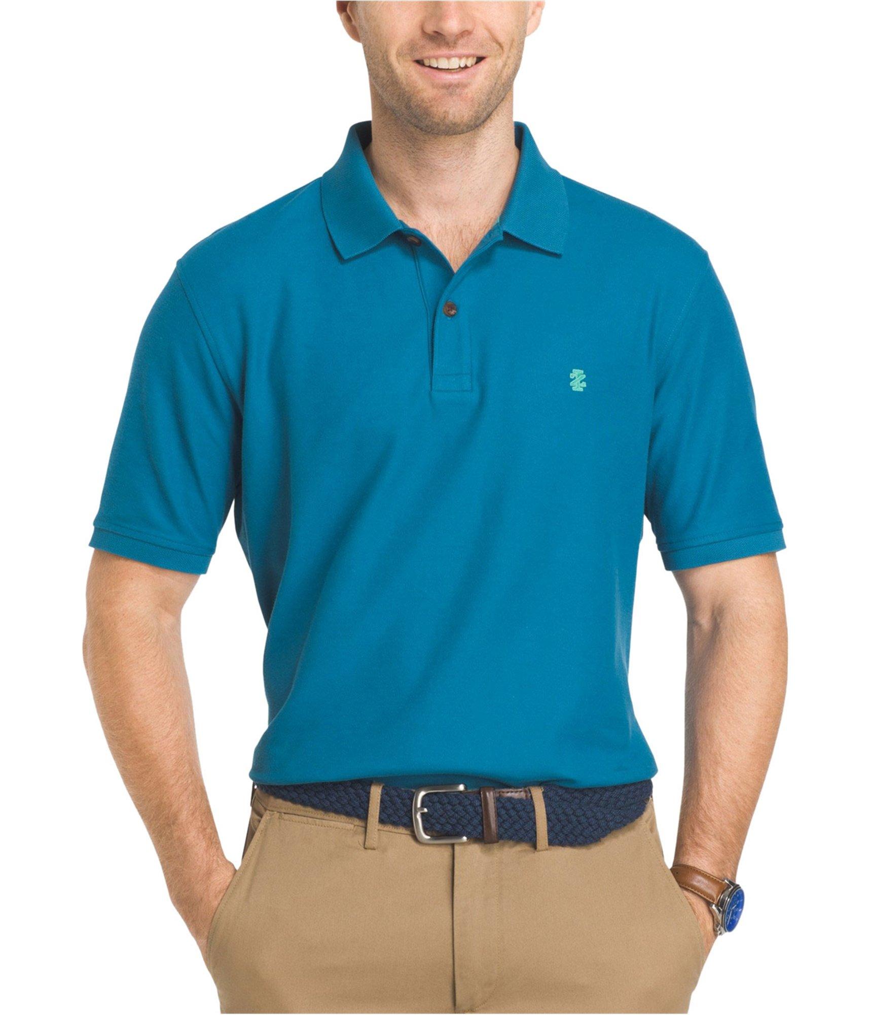 IZOD Men's Advantage Performance Solid Polo (Regular and Slim Fit), Saxony Blue, S
