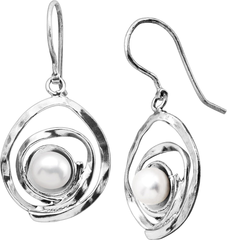 Silpada 'Clean Sweep' 7 mm Freshwater Cultured Pearl Drop Earrings in Sterling Silver