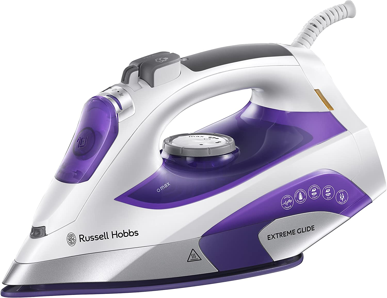 Russell Hobbs Extreme Glide Iron 21530 White and Purple 2400 W