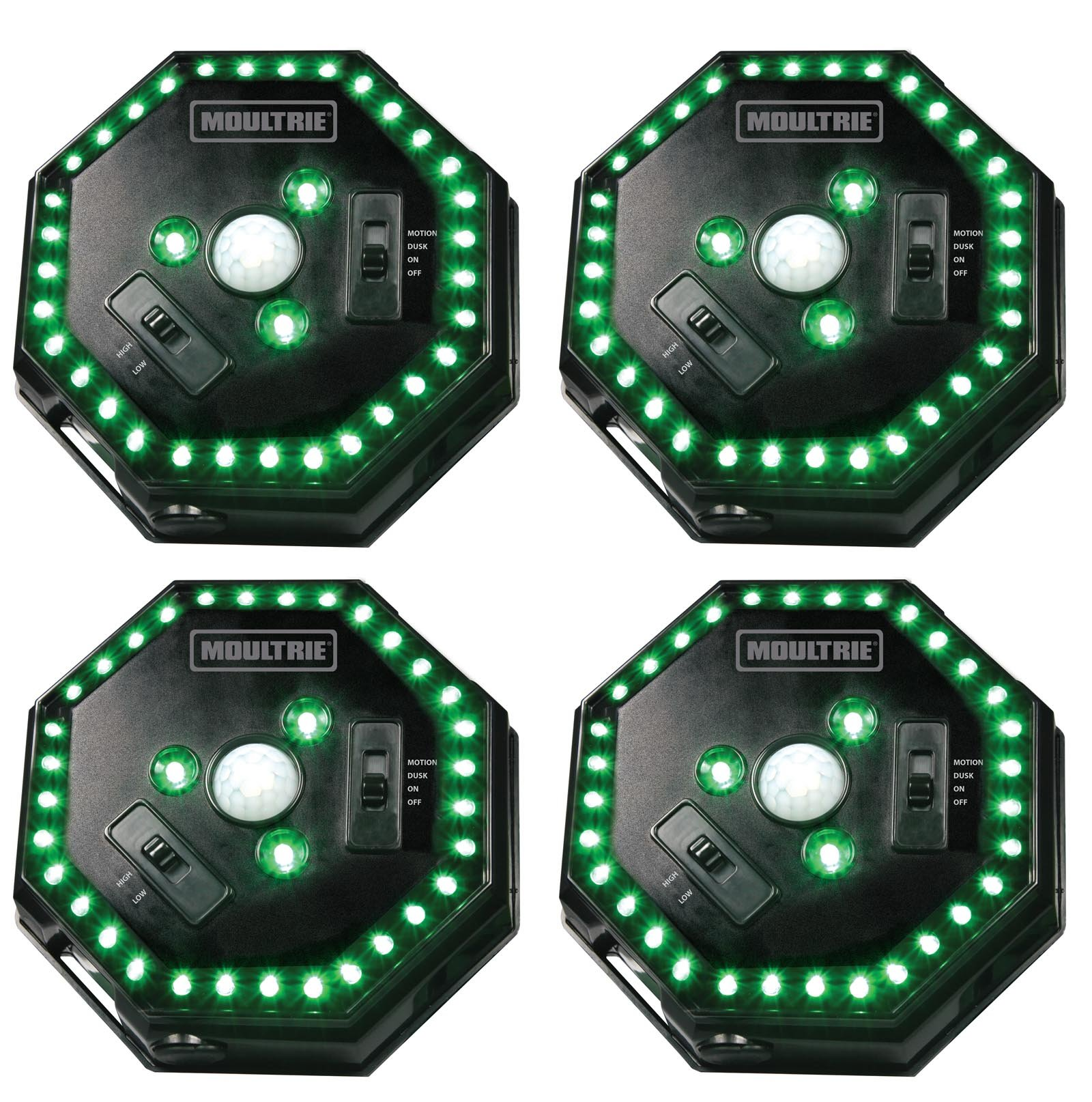 Moultrie Motion-Activated LED Feeder Hog Lights w/ 30FT Radius (4 Pack) by Moultrie