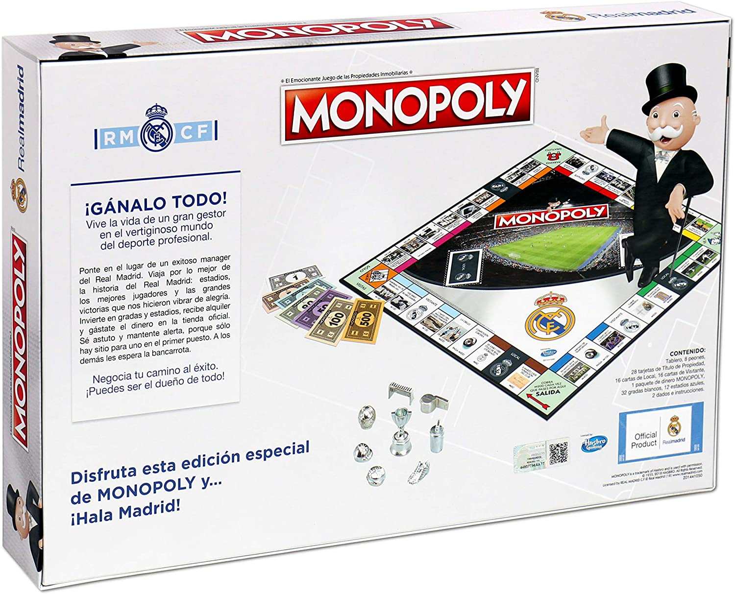 Winning Moves Monopoly Real Madrid CF (63324), Multicolor: Amazon.es: Juguetes y juegos