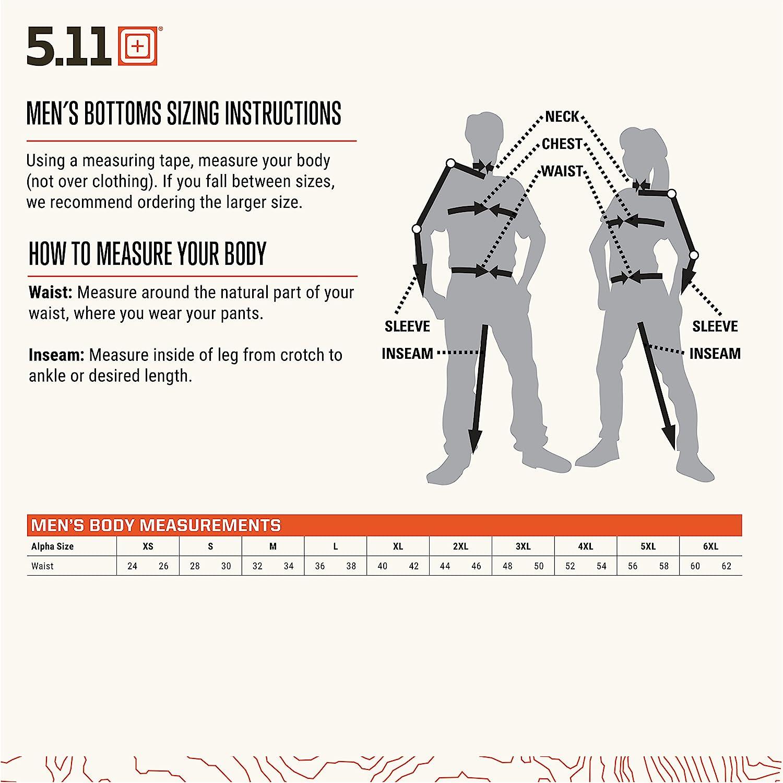 Taille r/églable 5.11 Short Tactique pour Homme Taclite Pro 11 Style 73308