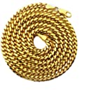 "LoveBling 10K Yellow Gold 4mm Solid Miami Cuban Link Chain Necklace w/Lobster Lock, Available 16"" - 30"""