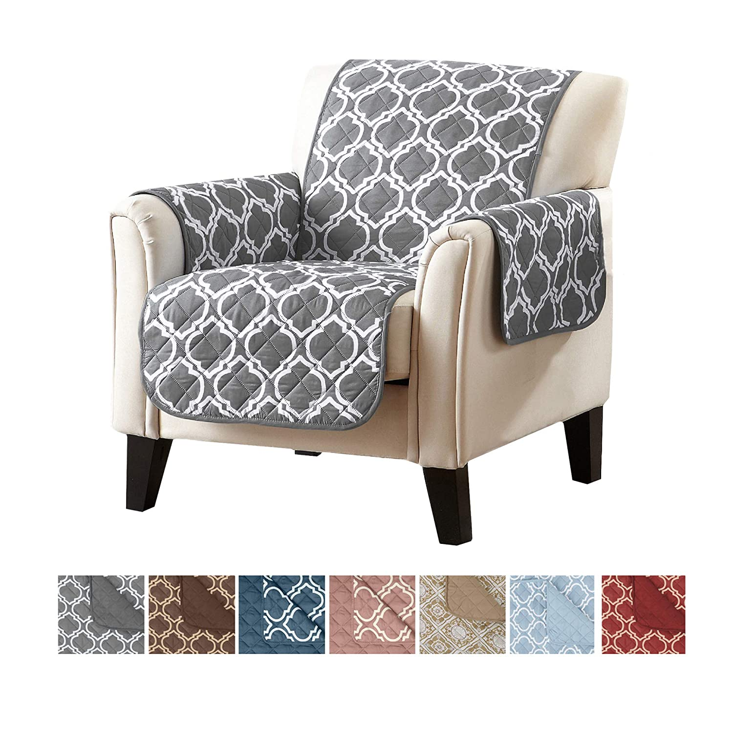 Groovy Home Fashion Designs Reversible Arm Chair Cover For Living Room Oversized Furniture Protector With Secure Straps Chair Cover For Dogs Protect From Alphanode Cool Chair Designs And Ideas Alphanodeonline
