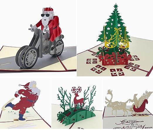 5 unidades Tarjetas de Navidad Pop Up Tarjeta de árbol de ...