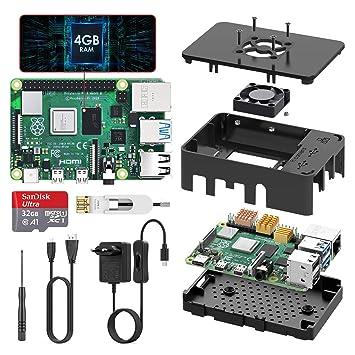 TICTID Raspberry Pi 4 Modelo B 4GB Kit, Versión Actualizada de ...