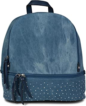 f1196bc3e styleBREAKER mochila vaquera, bolso de mano con estrás y cremallera, bolso,  señora 02012177, color:Azul / azul: Amazon.es: Equipaje