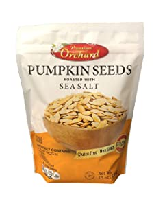 Premium Orchard - Pumpkin Seeds Oven Roasted with Sea Salt (1 Bag - NEW PACKAGING) - KETO Friendly, All Natural, Non GMO, Plant Protein, Vegan…