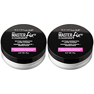 Maybelline New York Facestudio Master Fix Setting + Perfecting Loose Powder Makeup, Translucent, 2 Count