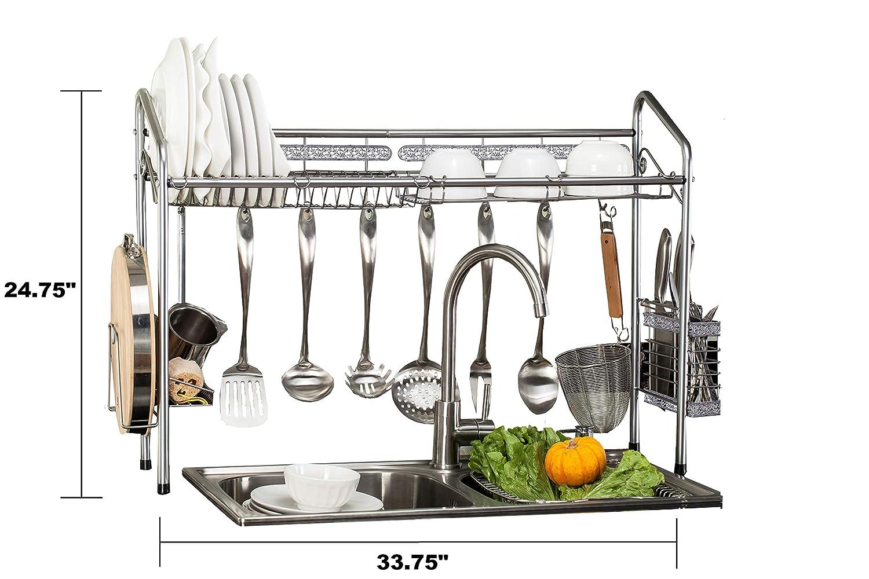 b9e68f9778a6 Amazon.com: PremiumRacks Professional Over The Sink Dish Rack - Fully  Customizable - Multipurpose - Large Capacity: Kitchen & Dining