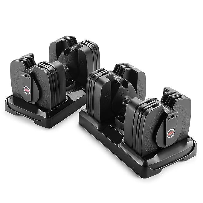 Bowflex Mancuerna selecttech 560 (par), 5 lb - 60 lb: Amazon.es: Deportes y aire libre