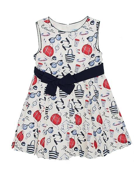 Mayoral 28-03950-045 - Vestido para niña 8 años Marino