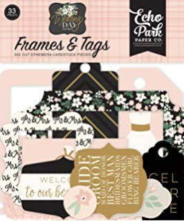 Echo Park Paper Company WD181021 Wedding Day 6x13 Accents chipboard green cream pink black grey