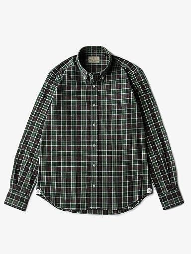 Viyella Check Buttondown Shirt 5811-699-0106: Olive