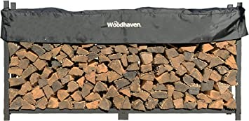 Woodhaven The 8 Ft Firewood Log Rack - Welded Frame