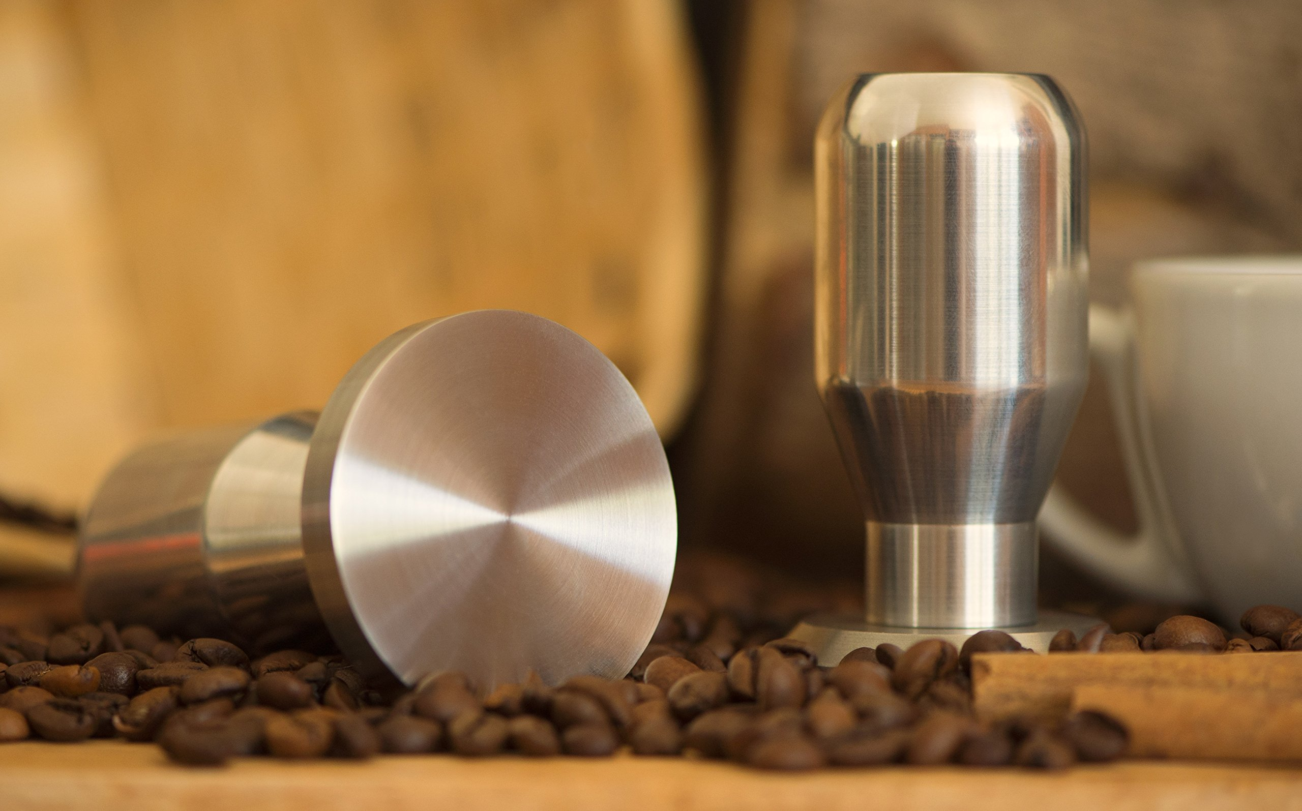 Modern Professional Coffee Espresso Tamper 100% Stainless Steel Base, Variety of Sizes. (49.6mm)