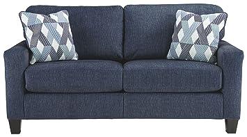 Ashley Furniture Signature Design - Burgos Contemporary Sofa - RTA Sofa in  a Box - Modular Assembly - Navy