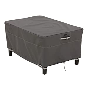 Classic Accessories Ravenna Patio Rectangular Ottoman/Side Table Cover, Large