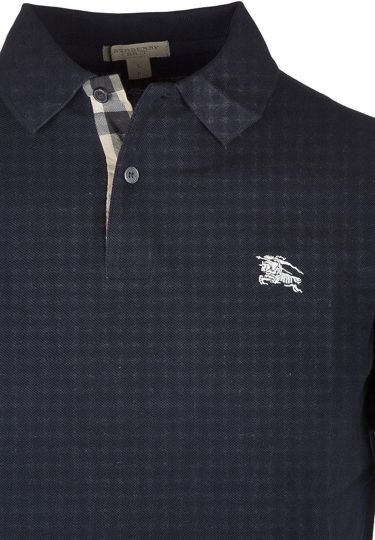 Burberry camisedade manga corta cuello de polo hombre nuevo blu ...