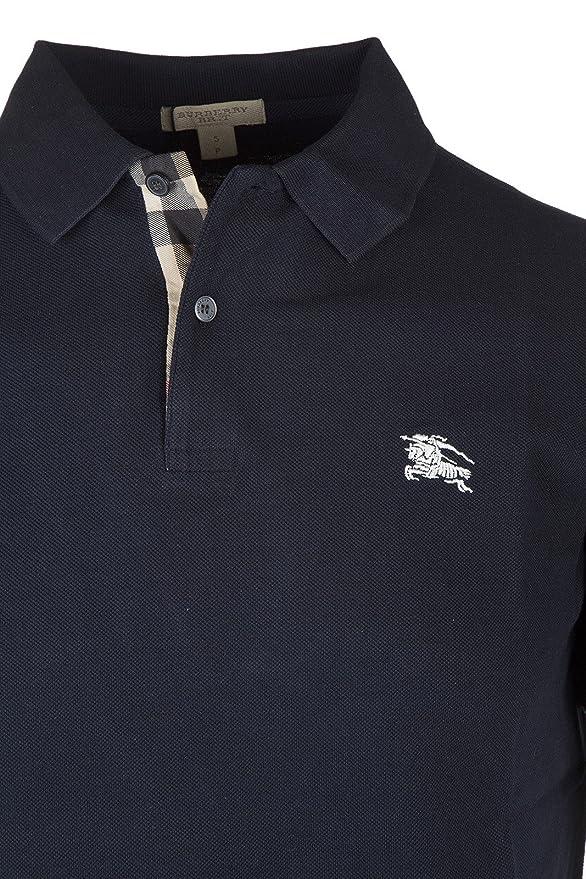 d56b9e097556 Burberry Men s Solid White Short Sleeve Cotton Pique Logo Basic T-shirt Polo  at Amazon Men s Clothing store