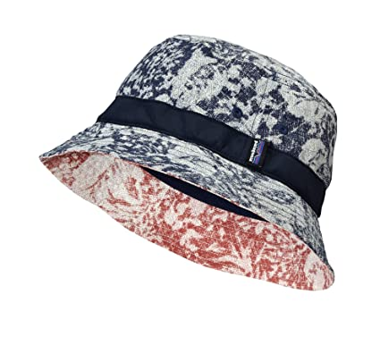 Patagonia Wavefarer Bucket Hat Reverse Hawaiian Navy Blue Small ... 1bd9e647510