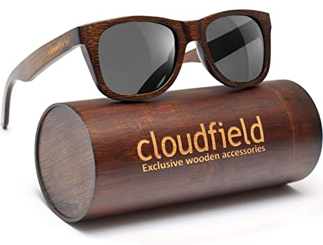60cee18485bf Image Unavailable. Image not available for. Color: Wood Sunglasses  Polarized for Men and Women ...