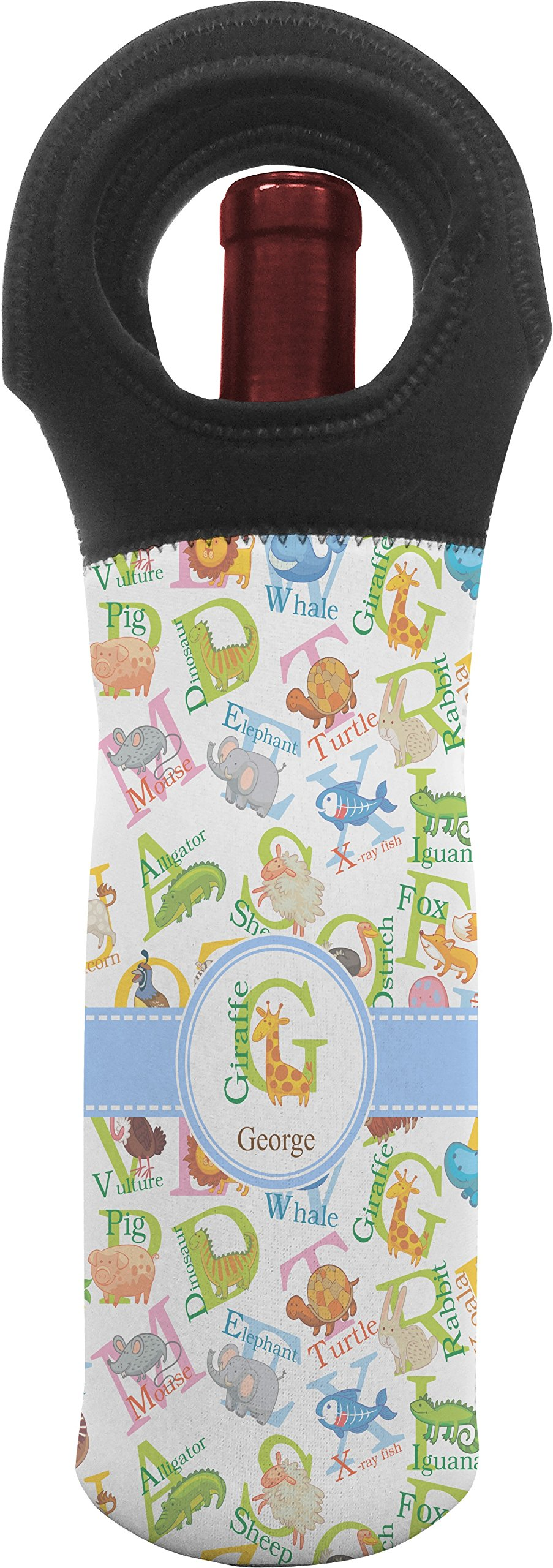 Animal Alphabet Wine Tote Bag (Personalized)