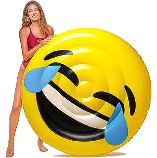Floatie Kings LOL Emoji Flotador de Piscina - Balsa Inflable Gigante