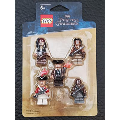 LEGO Pirates of the Caribbean Mini Figure 5Pack Item #4638572 Captain Jack Sparrow, Gunner Zombie, Yeoman Zombie, Scrum King Georges Officer 853219: Toys & Games