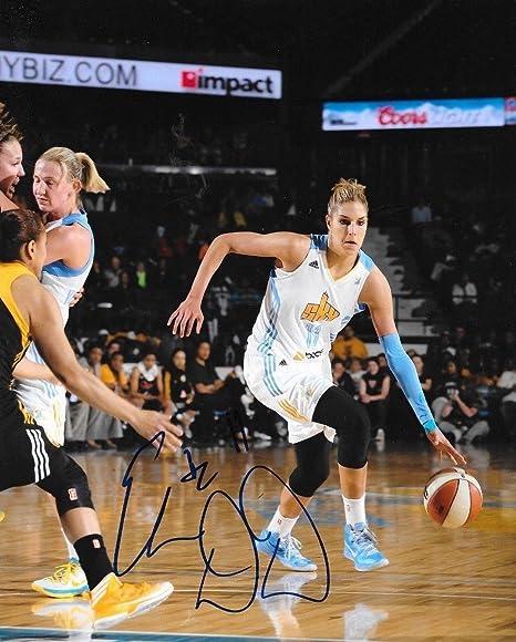 25b17fa424b98 Amazon.com: Elena Delle Donne Washington Mystics signed Chicago Sky ...