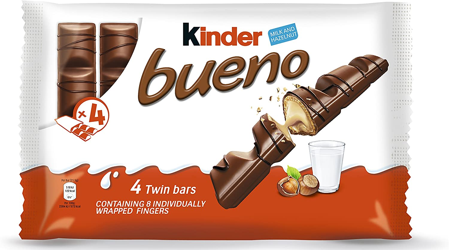 Kinder Bueno Classic Bar Mulitpack 4 x 172 g (Pack of 11): Amazon ...
