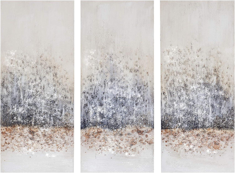 Amazon Com Madison Park Twilight Mystere 100 Hand Brush Embellished Canvas 3 Piece Set See Below Blush Grey Posters Prints