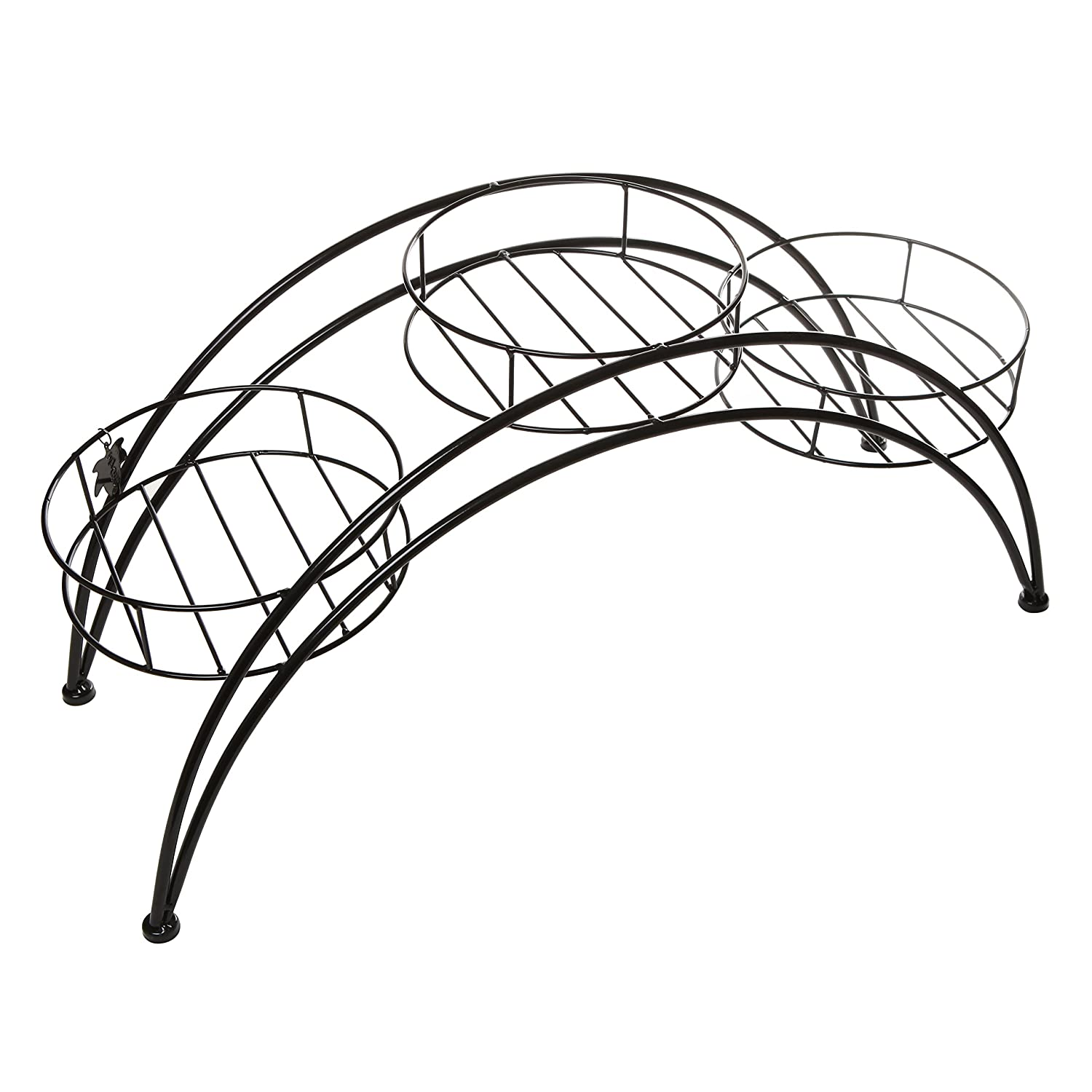 Amazon Elegant Arch Design Black Metal Plant Stand Flower