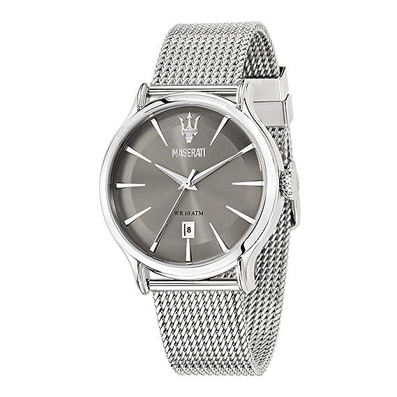 Maserati Reloj Analógico de Cuarzo para Hombre con Correa de Acero Inoxidable – R8853118002