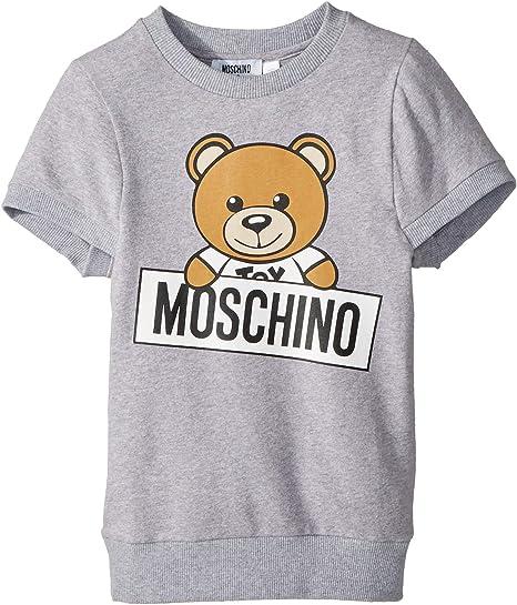 796833d701b Amazon.com: Moschino Kids Girl's Short Sleeve Teddy Bear Logo Graphic Dress  (Little Kids/Big Kids) Grey 6: Clothing