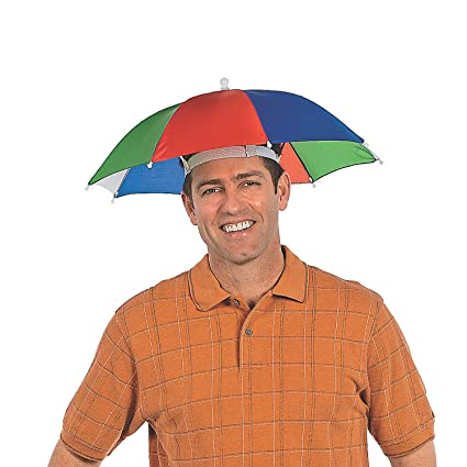 be97660a2b429 Image Unavailable. Image not available for. Color  Fun Express - Nylon  Umbrella Hat ...